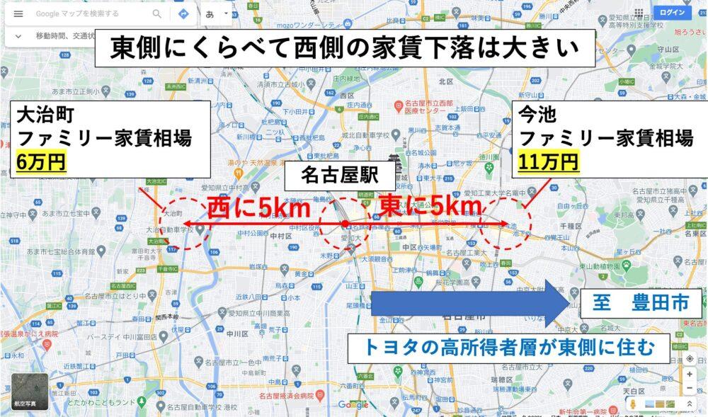 名古屋の賃貸需要のイメージ図