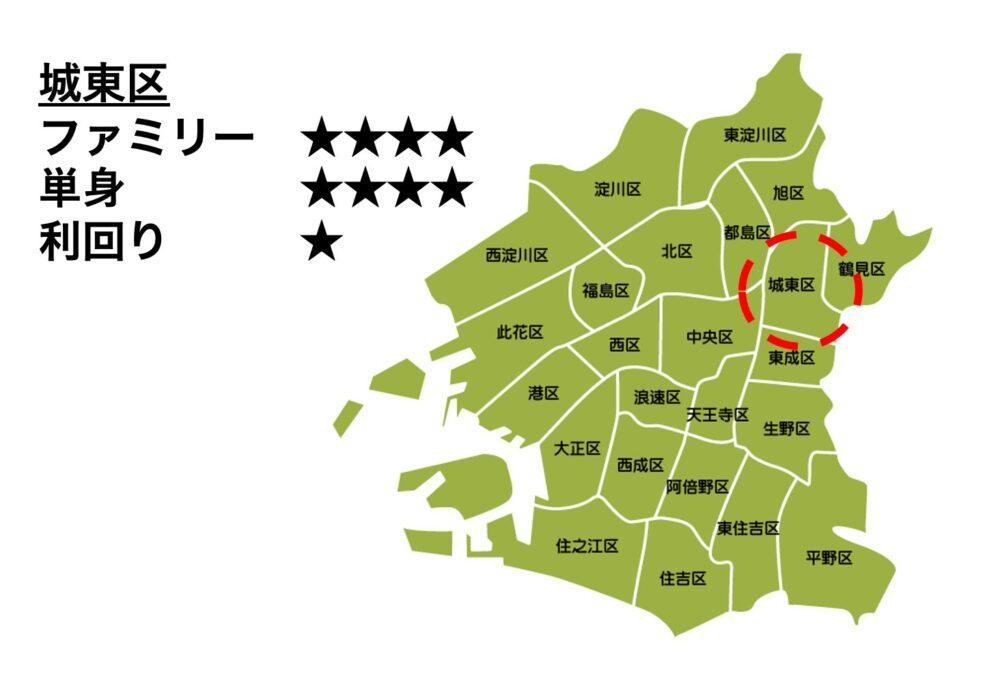 城東区の位置