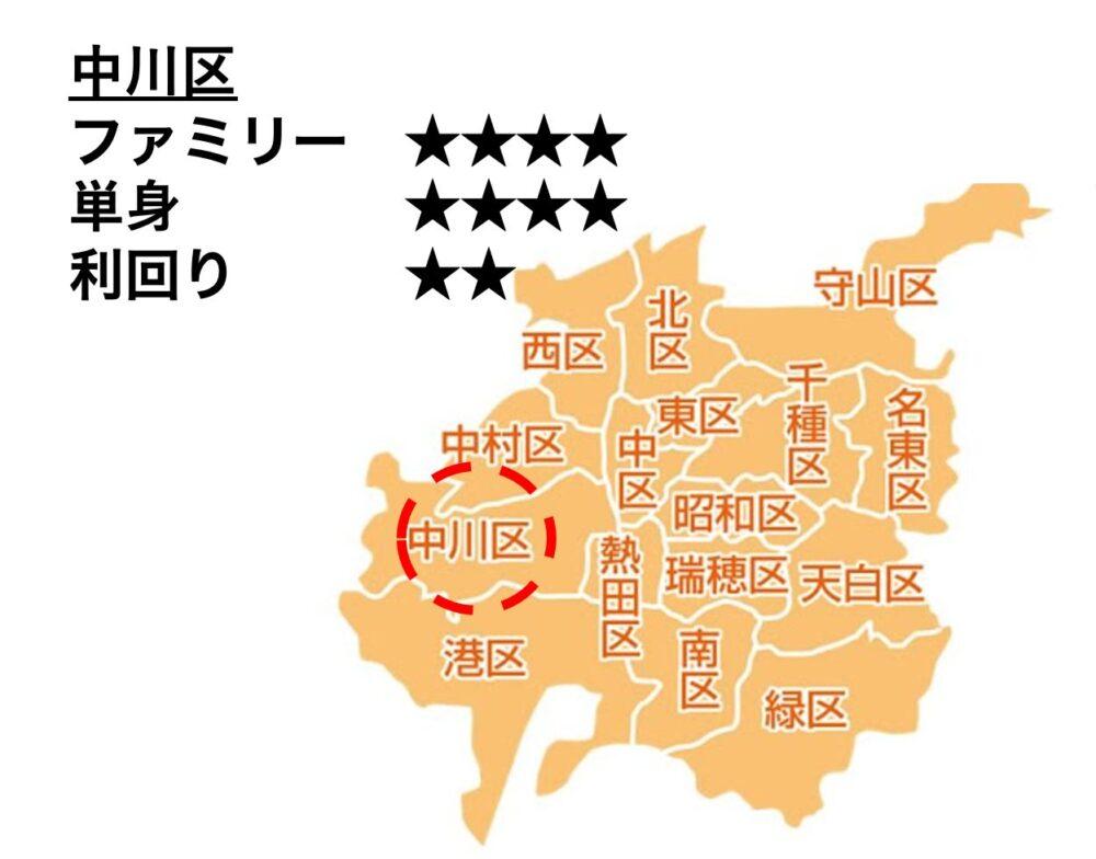 中川区の位置