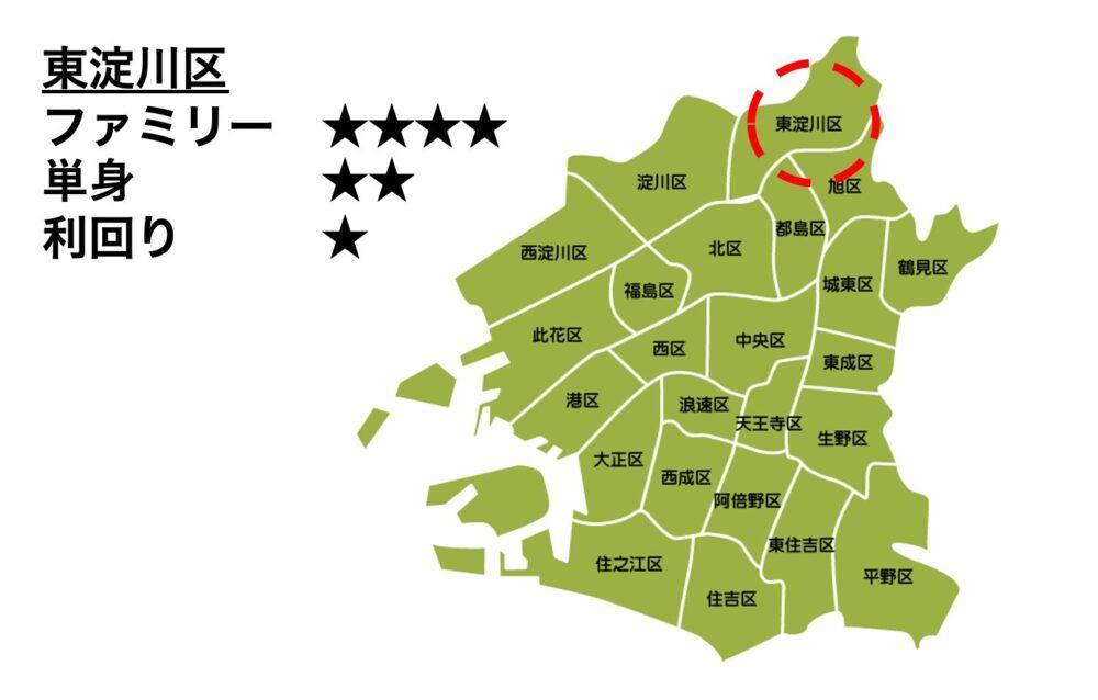 東淀川区の位置